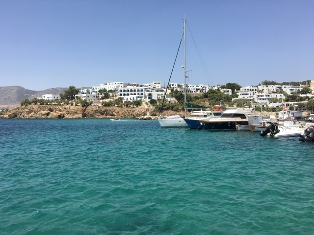 Paros Island and Mediterranean Sea