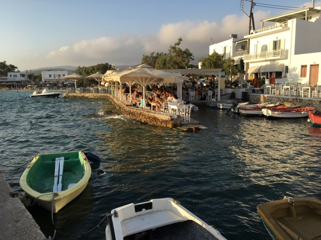 Taverna on Paros Island in Greece